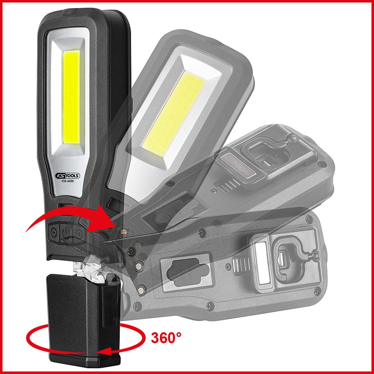 KS Tools knickbare LED Handlampe